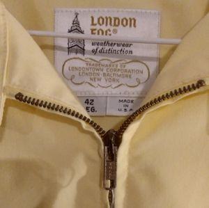 London Fog Vintage Yellow Rain Jacket